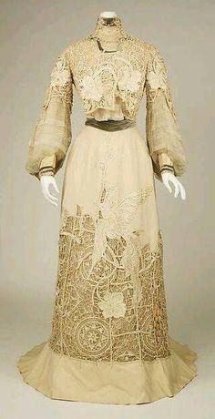 1904 American designed silk dress.