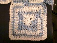 Cuadritos en punto alto -Tutorial de tejido crochet