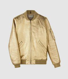 gold Ferris army jacket // A.P.C.