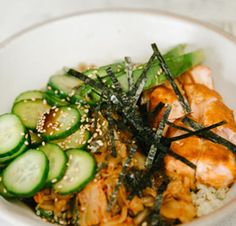 We love grain bowls (especially ones with salmon!)