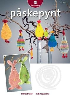 Create Relevance - Innocode AS Cute Crafts, Felt Crafts, Easter Crafts, Diy Crafts, Knitting Patterns Free, Free Pattern, Knitting Ideas, Penny Rugs, All Craft