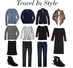 For Building A Travel Wardrobe I'd pack a halter neck lacy LBD and take a black pashmina wrap for decency - otherwise a great travel wardrobe.I'd pack a halter neck lacy LBD and take a black pashmina wrap for decency - otherwise a great travel wardrobe. Travel Capsule, Travel Wear, Travel Style, Travel Packing, Travel Outfits, Travel Hacks, Baby Travel, Packing Tips, Travel Tips