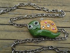 Ahh! So cute!!! Cute Snail Pendant with Chain by ConstantMindJewelry on Etsy, $12.99