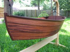 Baby Boat Cradle by BeaverBoatworks on Etsy https://www.etsy.com/listing/22104996/baby-boat-cradle