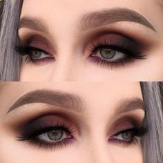 A smokey eye is one of the most classic makeup looks. At one time, women generally reserved their smokey eye looks for special occasions. However, smokey eyes are now an extremely popular eye makeup l Makeup Goals, Love Makeup, Makeup Inspo, Makeup Inspiration, Beauty Makeup, Makeup Ideas, Makeup Kit, Makeup Geek, Makeup Remover