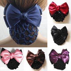 Women Fashion Satin Lady Bow Hair Buns Net Hair Snood Crochet Net Bun Hair Cover Women Hair Clip Accessories. It is very ADORABLE and BEAUTIFUL! I