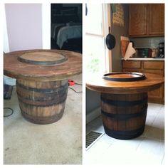 kuhles eckbar im wohnzimmer erhebung abbild oder abecaeadada wine barrel table outdoor projects