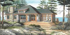 "Cottage Plans   Normerica Cottage Design ""The Baril 3514"""