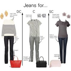 Jeans for Dramatic Classic, Classic, and Soft Classic Types by thewildpapillon on Polyvore