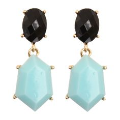 Black Blue Two Tone Faceted Bead Dangle Earrings Candy Luxx ($8.99) ❤ liked on Polyvore featuring jewelry, earrings, oversized earrings, beaded bangle bracelet, beaded earrings, blue earrings and two tone bangle bracelet