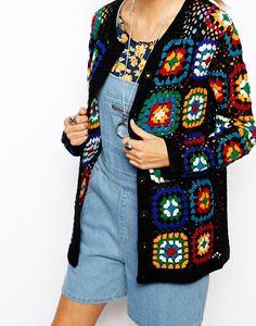 ASOS Premium Patchwork Crochet Cardigan