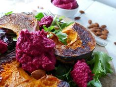 Pumpkin and Beetroot Hummus Salad