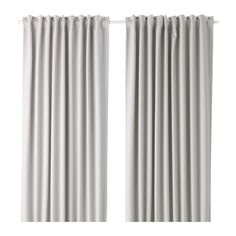 MAJGULL Block-out curtains, 1 pair IKEA The room darkening curtains have a special coating that blocks light from shining through.