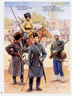 gunsandposes:    Russian Cossacks of the Russo-Japanese War.  (odinochenko)