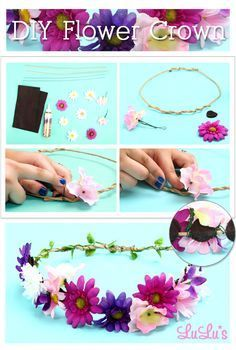 """Some of the girls would love to make these flower crowns for DJ nites or """"Halloween"""""""