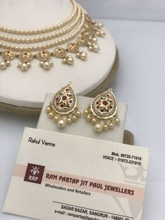 The Guild of Jewellery Designers handmade jewellery Indian Jewelry Earrings, Indian Jewelry Sets, Indian Wedding Jewelry, Royal Jewelry, Beaded Jewelry, India Jewelry, Pearl Jewelry, Pearl Necklace, Bridal Necklace