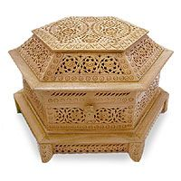 Let your jewelry rest in flowers: Your jewelry is beautiful. It deserves a beautiful home. How about one of these magnificent floral jewelry boxes in wood, brass, or soapstone?