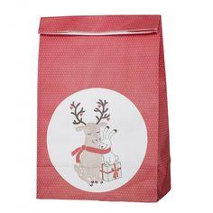 Papierové vrecko na darčeky Twinkle La Red, Bella Rose, Twinkle Twinkle, Washi, Lunch Box, Christmas, Home Decor, Ron, Decoration