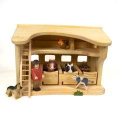 b11c8a05f Horse Stable (Kinderkram) Toy Barn, Horse Stables, Waldorf Toys, Dollhouse  Dolls