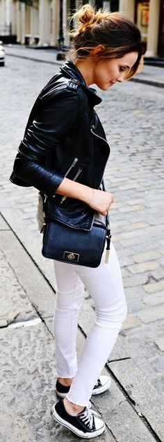 Cajmel Black And White Sporty Casual Fall Streetstyle Inspo