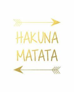 """Fond d'écran """"hakuna matata"""" gold"""