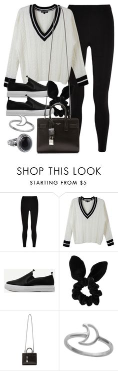 """Style #11576"" by vany-alvarado ❤ liked on Polyvore featuring T By Alexander Wang, LE3NO, Topshop, Yves Saint Laurent and Midsummer Star"