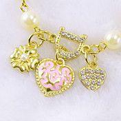 Liefde hart vol van diamanten parel bloem arm... – EUR € 2.29