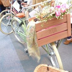 flowers and bikes