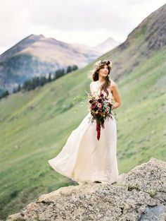#bhldnPhotography: Brumley and Wells - brumleyandwells.comRead More: http://stylemepretty.com/2013/10/11/rugged-mountain-shoot-from-brumley-and-wells/