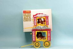Steiff 010087 Circus Wagon with Lion Golden Age of Circus