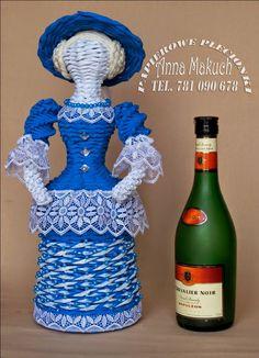 """Papierowe plecionki: Dama w błękitach """" Lady Amelia"""""""