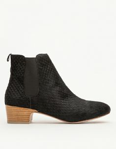 hello gorgeous black pony hair booties. The Ringo Boot - perfect texture for fall fashion