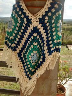 Poncho tejido a crochet x Silvana Gloria tejidos