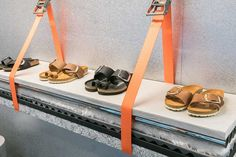 Install Birkenstock & Barneys New York Unveil Mobile Retail Concept Buying Petite Clothing Made Easy Bergdorf Goodman, Window Display Retail, Window Displays, Retail Store Design, Retail Stores, Visual Merchandising Displays, Retail Concepts, Store Displays, Retail Displays