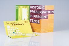 Brochure for Cornerstones a historic preservation non-profit