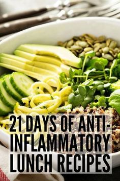 21 Day Anti Inflammatory Diet for Beginners | Looking for an anti-inflammatory meal plan to help boost your immune system and keep your autoimmune disease under control while also helping you to lose weight? We've put together a 21-day meal plan for begin