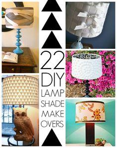 22 ideeën om die oude lampenkap te pimpen