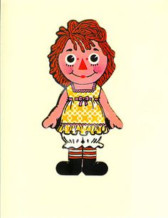 vintage raggedy ann colorforms printable paperdolls and clothing