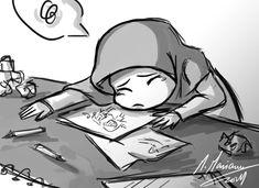 by madimar Muslim Couples, Muslim Girls, Hijab Drawing, Islamic Cartoon, Cute Couple Cartoon, Anime Muslim, Hijab Cartoon, Creativity Quotes, Islamic Art