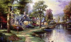 While the late artist Thomas Kinkade is mainly associated with paintings of English country scenes, he had a strong connection with Corvallis, Oregon through longtime friend, fellow artist Charles Kelley.