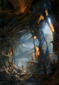 alien cave by bumskee - min yum - CGHUB via PinCG.com
