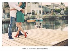 Venice Canals and Venice Beach Engagement Session