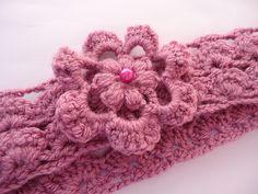 Ravelry: Easy Pattern Crochet Headband with Flower pattern by Beauty Crochet Pattern