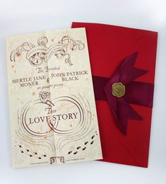 This foldout Harry Potter invitation inspired by the Marauders Map: