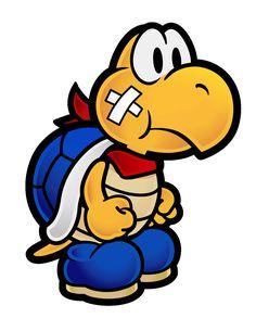 Kooper Paper Mario New. Mario Run, Mario And Luigi, Mario Kart, Classic Cartoon Characters, Classic Cartoons, Super Mario Smash Bros, Paper Mario, Paper Luigi, Nintendo World