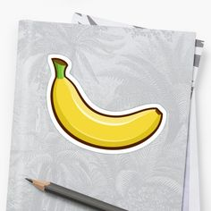 'Fruit Collection - Banana' Sticker by manfex Canvas Prints, Framed Prints, Art Prints, Banana Sticker, Art Boards, Wall Tapestry, Decorative Throw Pillows, T Shirts For Women, Stickers