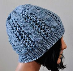 Allegro DK Cables 'n Lace Hat- free knitting pattern