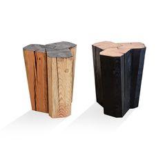 Tavolino o sgabello in legno massiccio