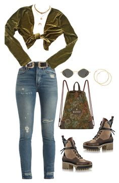 """""""Untitled #4188"""" by mollface ❤ liked on Polyvore featuring Gucci, RE/DONE, B-Low the Belt and Christian Dior"""