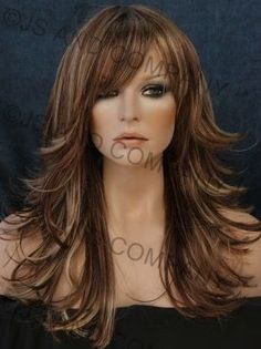 5 tone mix flip out layered WIG WIGS Haripiece FN RS29